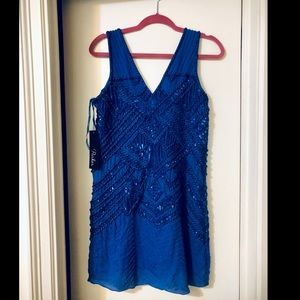 NEW NWT Parker blue sequin mini dress